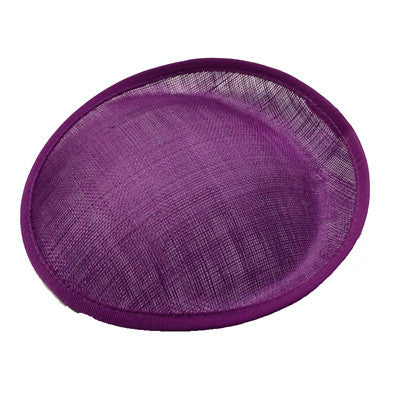 Purple Saucer Sinamay Base Small