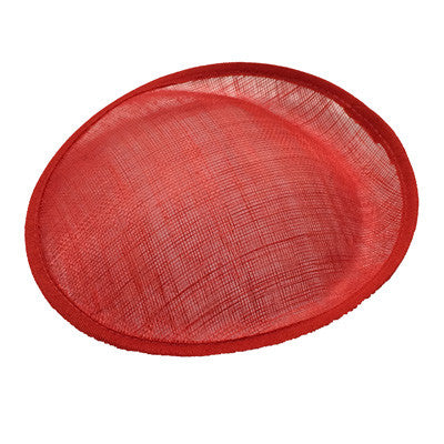Red Saucer Sinamay Base Small
