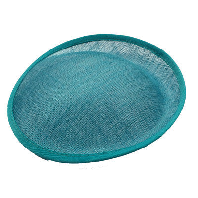 Turquoise Saucer Sinamay Base Small
