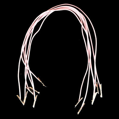 Pink Hat Elastic Prongs x 6