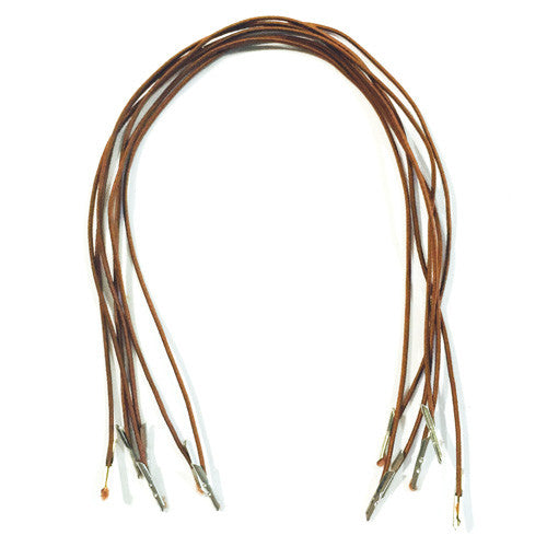 Brown Hat Elastic Prongs x 6