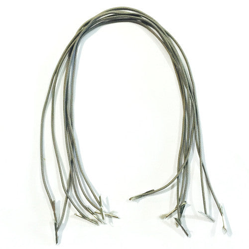 Grey Hat Elastic Prongs x 6