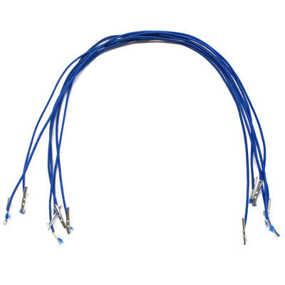 Royal Blue Hat Elastic Prongs x 6