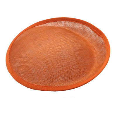 Orange Saucer Sinamay Base Small