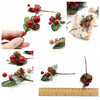 Christmas Berry Holly & Pine Cone Picks x 5 pcs