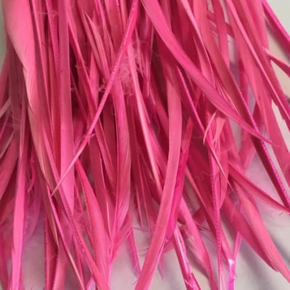 Hot Pink Goose Biots Feather Pack 10 gram