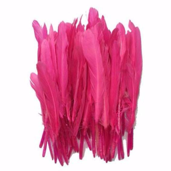 Tiny Goose Pointer Feathers 10 grams - Hot Pink