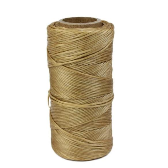 Imitation Round Twisted Strand Sinew Spool 1oz - Tan