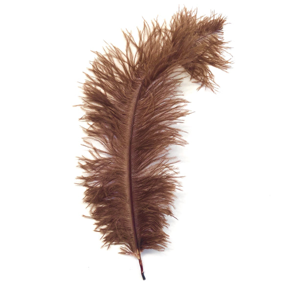 Ostrich Blondine Feather 25-40cm x 5 pcs - Chocolate ((SECONDS))