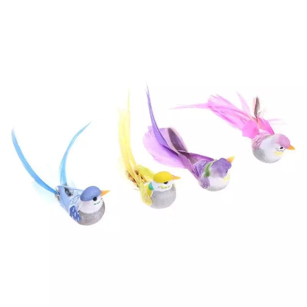 Artificial Realistic Decorative Colourful Foam Feather Birds x 4pcs (Style 8)