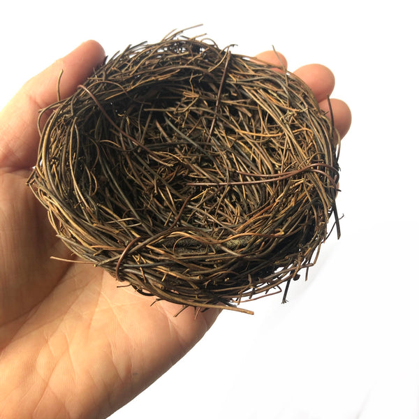 Natural Easter Premium Vine Bird Nest Small 8cm - Natural Brown