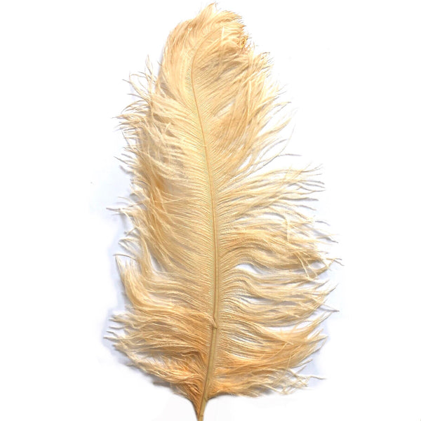 "Ostrich Wing Feather Plumes 60-65cm (24-26"") - Soft Apricot"