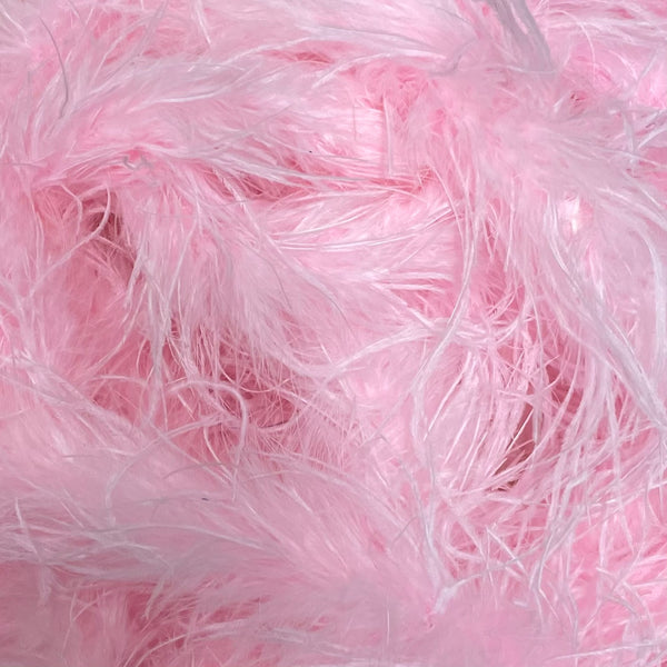 Ostrich & Marabou Feather Boa Trim per 10cm - Pink