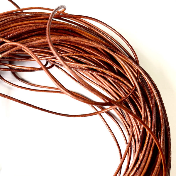Natural Leather Cord 1.5mm per metre - Brown