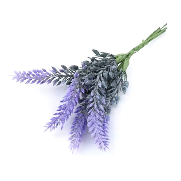 Artificial Plastic Flower Pick Style 3 - Lavender