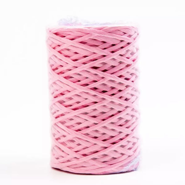 Iron Wire Paper Rattan 1mm Cord Roll 40 mtrs - Pink