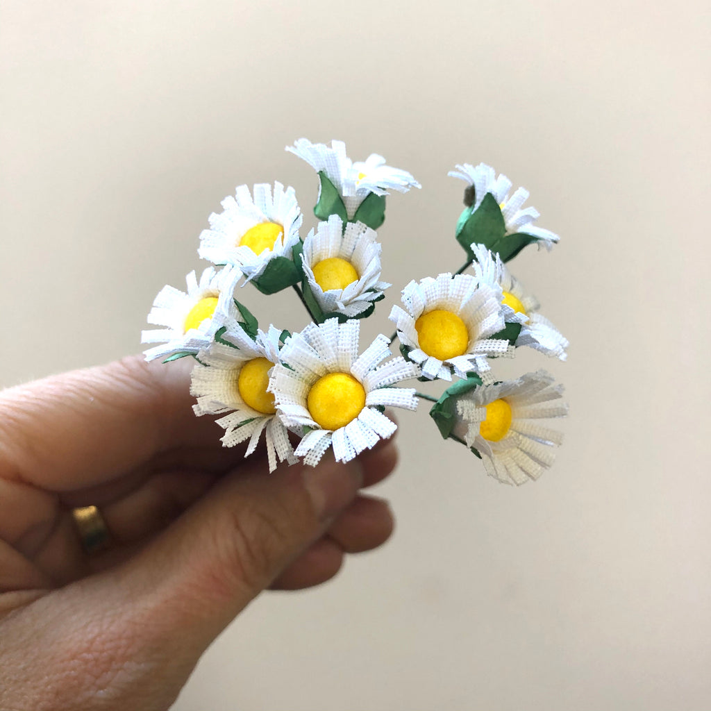 Artificial Silk Daisy Flower Pick Style 1 - White