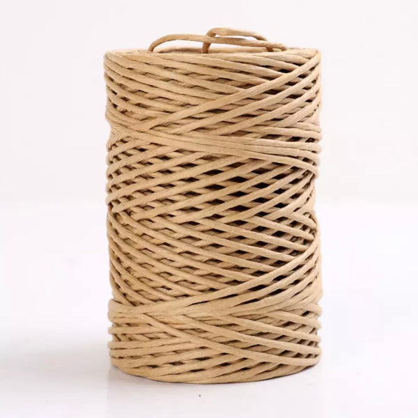 Iron Wire Paper Rattan 1mm Cord Roll 40 mtrs - Natural