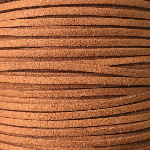 Brown Faux Suede Leather Cord per metre