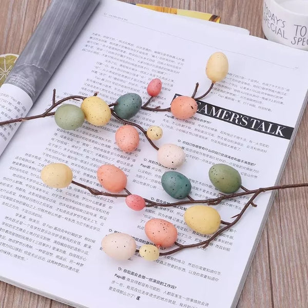 Artificial Easter Egg Tree Branch Spray