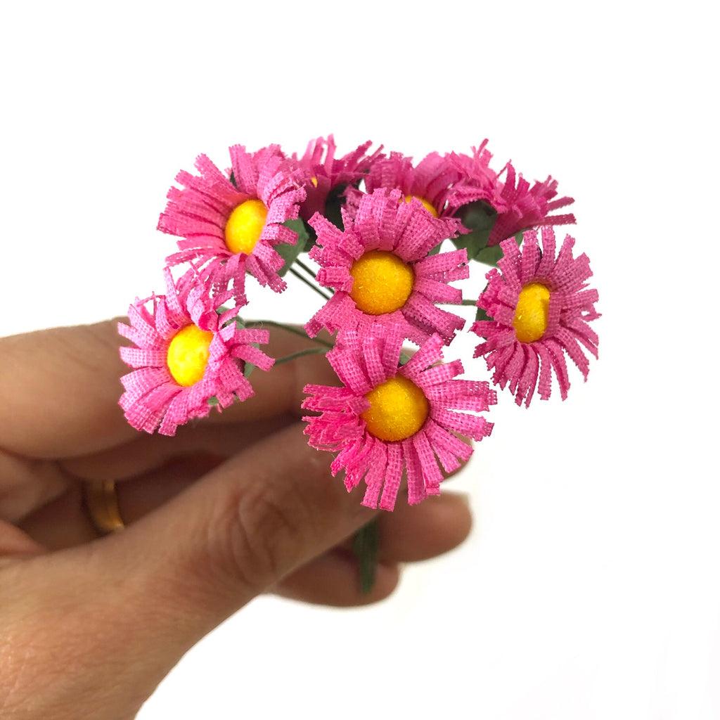 Artificial Silk Daisy Flower Pick Style 1 - Hot Pink