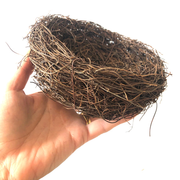 Natural Easter Premium Vine Bird Nest Large 15cm - Natural Brown