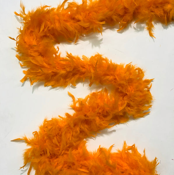 Chandelle Feather Boa 65 gram - Orange