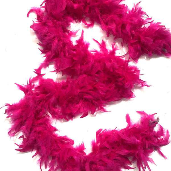 Chandelle Feather Boa 65 gram - Cerise
