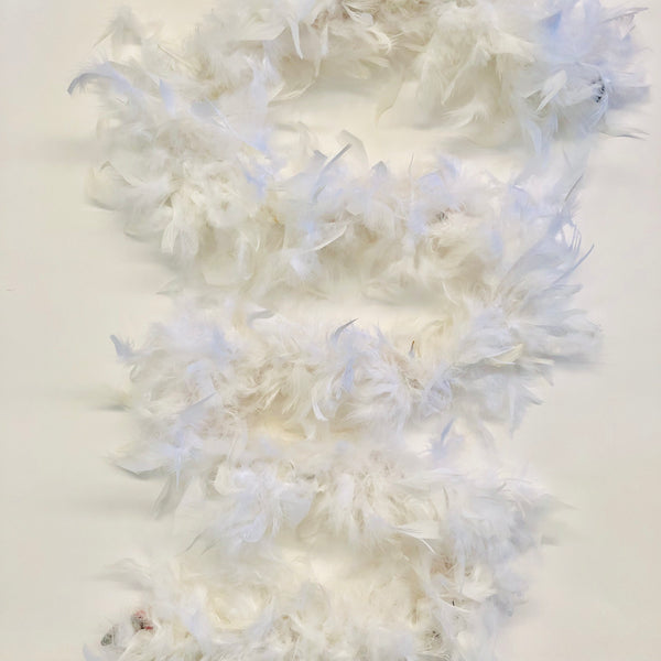 Chandelle Feather Boa 65 gram - White