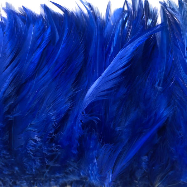 Royal Blue Hackle Strung per 10cm