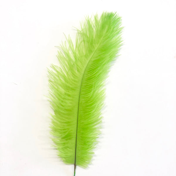Ostrich Blondine Feather SHORT 10 grams - Lime Green
