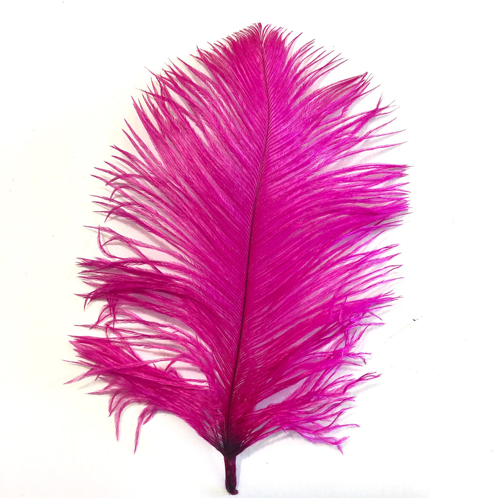 Ostrich Feather Drab 6-15cm x 20 - Cerise