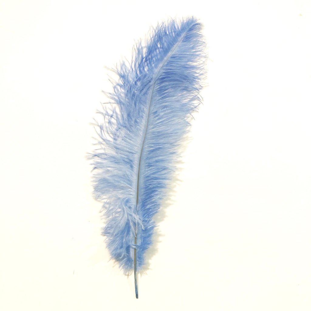 Ostrich Blondine Feather 25-40cm x 5 pcs - Light Blue ((SECONDS))