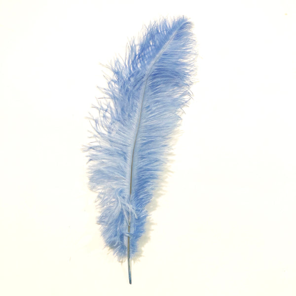 Ostrich Blondine Feather 25-40cm - Light Blue
