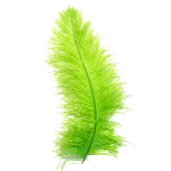 Ostrich Blondine Feather 25-40cm x 5 pcs - Lime Green ((SECONDS))