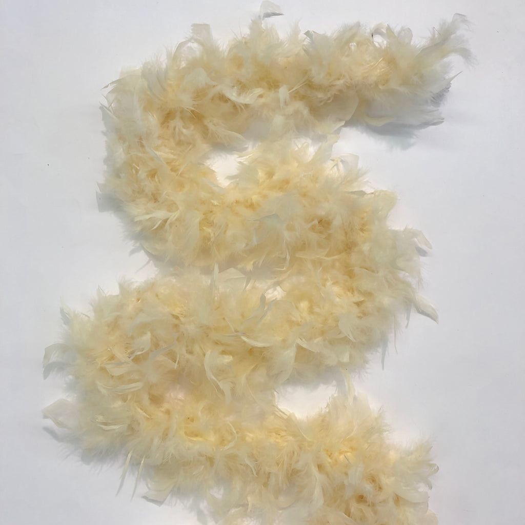 Chandelle Feather Boa 65 gram - Cream
