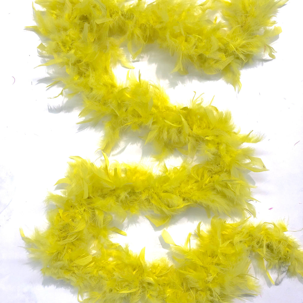 Chandelle Feather Boa 65 gram - Yellow