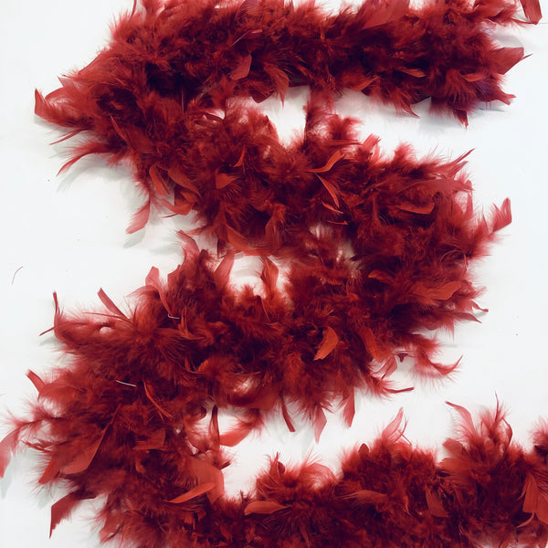 Chandelle Feather Boa 65 gram - Blood Red