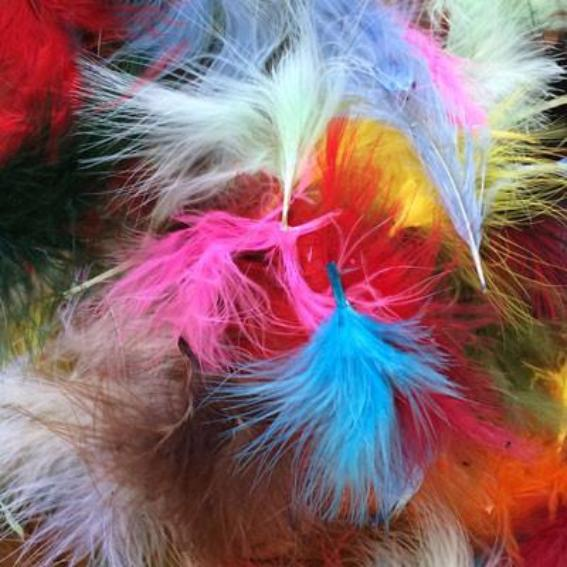Itty Bitty Marabou Feather Plumage Pack 10 grams - Assorted