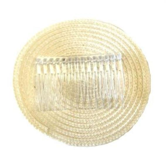 Ivory 100mm Disc Base with Comb