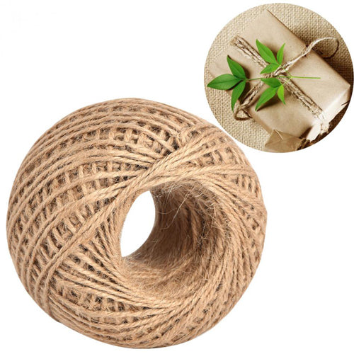 Jute 2mm Twine Cord Roll 50 mtrs - Natural