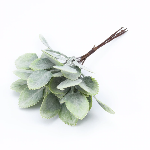 Artificial Wired Leaves Pick - Green (Style 6)