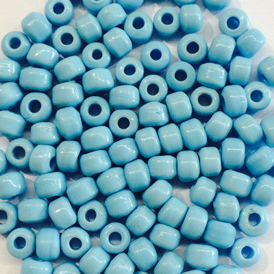 Light Blue Crow Beads 9mm x 10