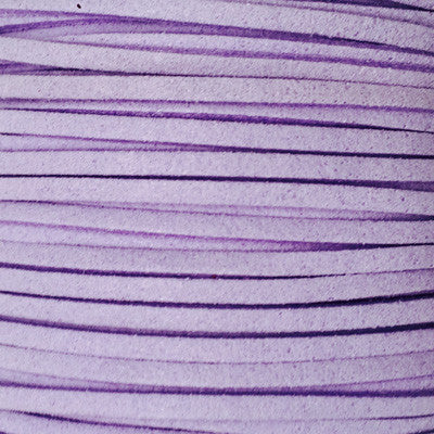 Lilac Suede Leather Cord per metre