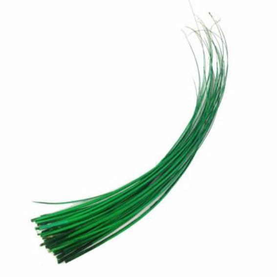Ostrich Feather Quill Spine Barb - Green