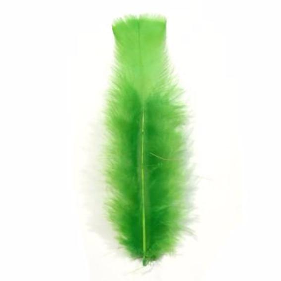 Flat Top Marabou Feather Pack 10 grams - Lime Green