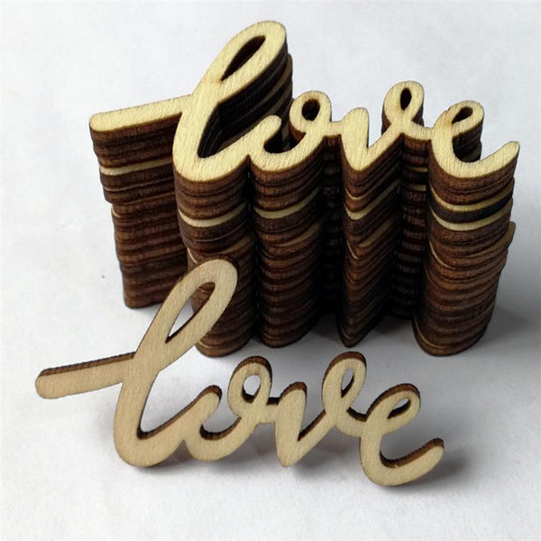 Laser Cut Unfinished Word x 15 pcs - LOVE
