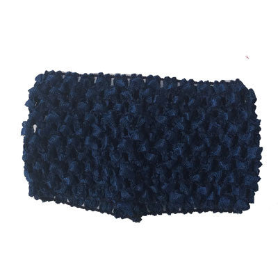 "2 3/4"" Navy Blue Crochet Headband"