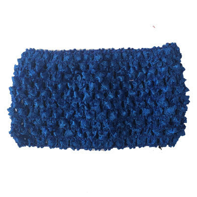 "2 3/4"" Royal Blue Crochet Headband"