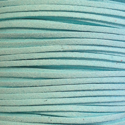 Mint Faux Suede Leather Cord per metre